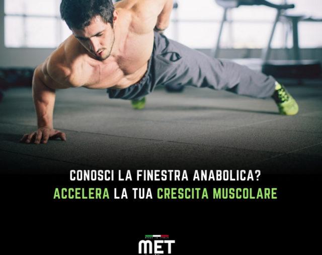 Nutritional Coach MET - Cos'è la Finestra anabolica?
