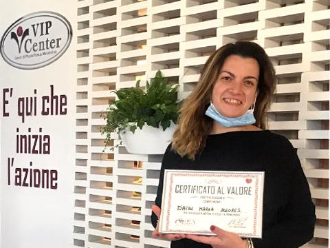 Maria, oggi con VIP Center mi sento orgogliosa di me!